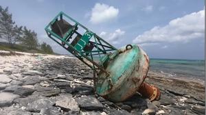 Canadian Coast Guard buoy in Bahamas