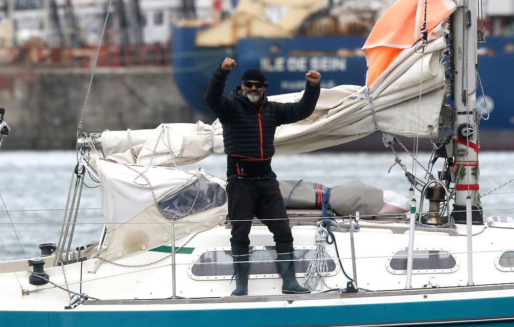 Man sails solo from Portugal to Argentina