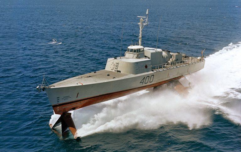 Bras D'or at sea trials 1969