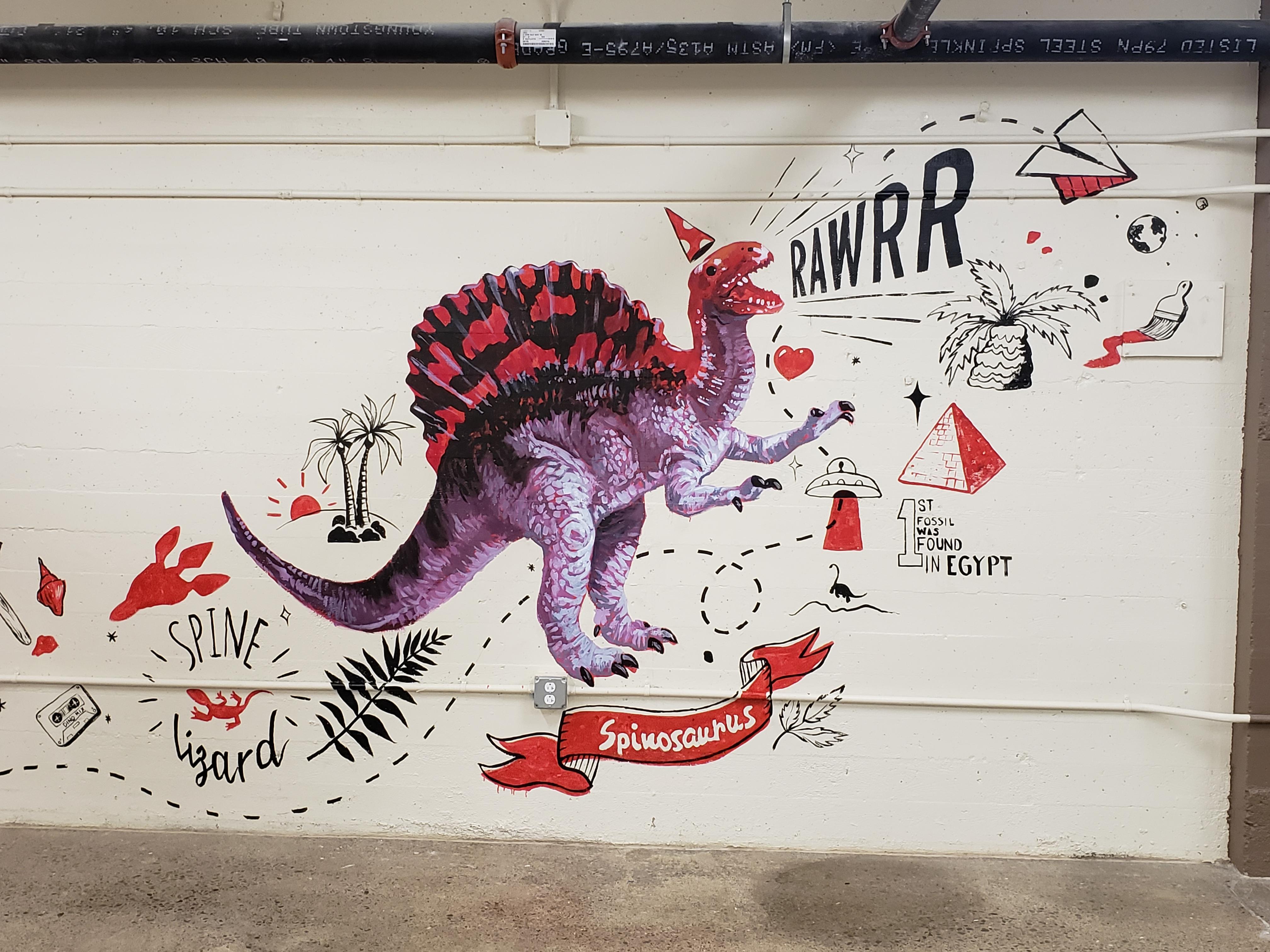 Mural - Spinosaurus