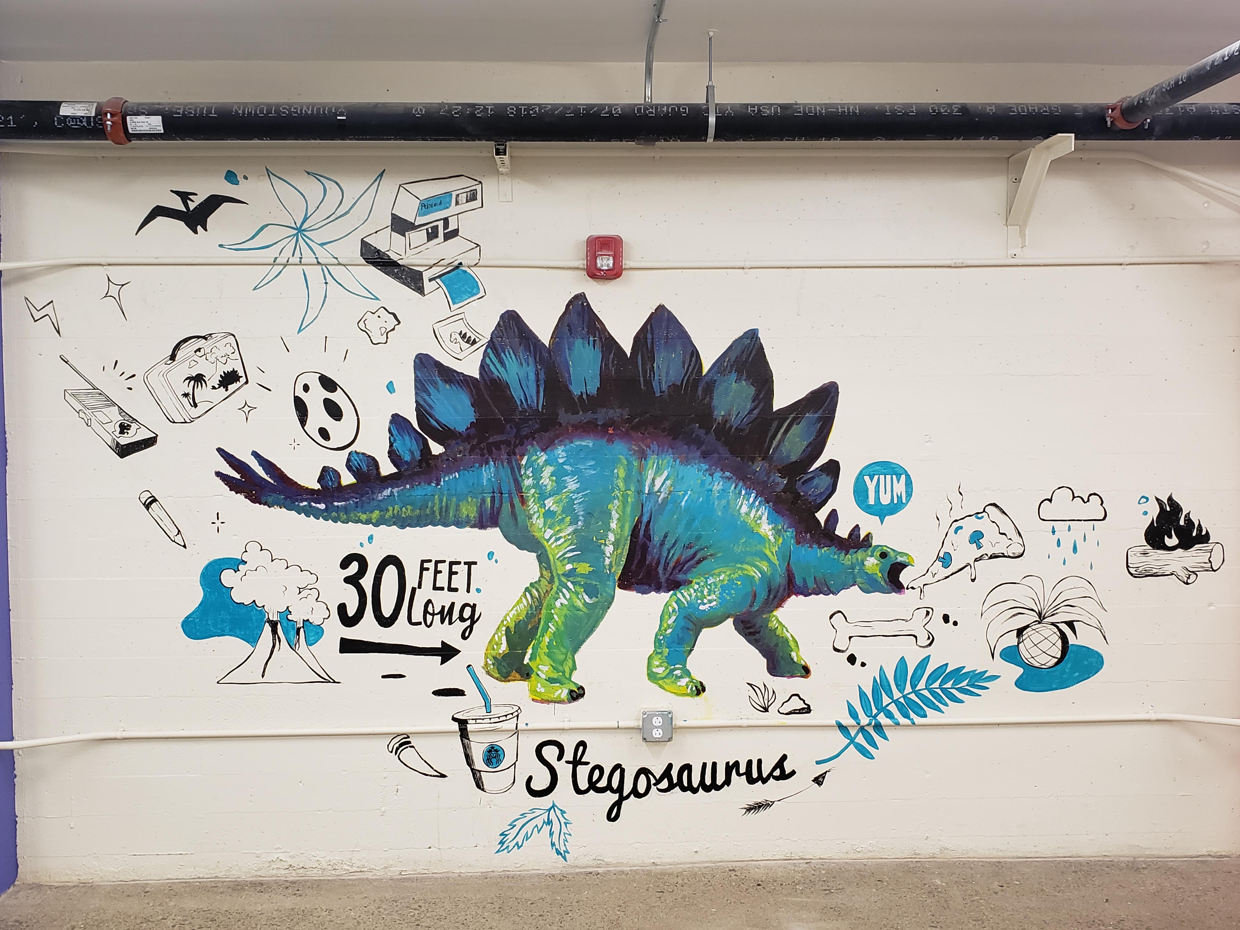 Mural - Stegosaurus