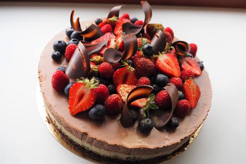 Šokolaadi-piparmündi moussetort