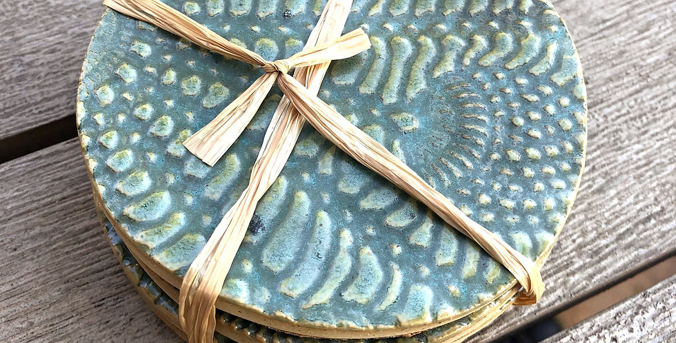 Aurora Borealis Textured Coasters