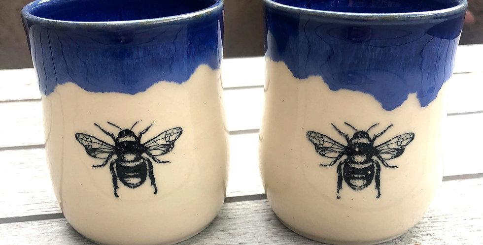 Cobalt Queen Bee Sipper Pair