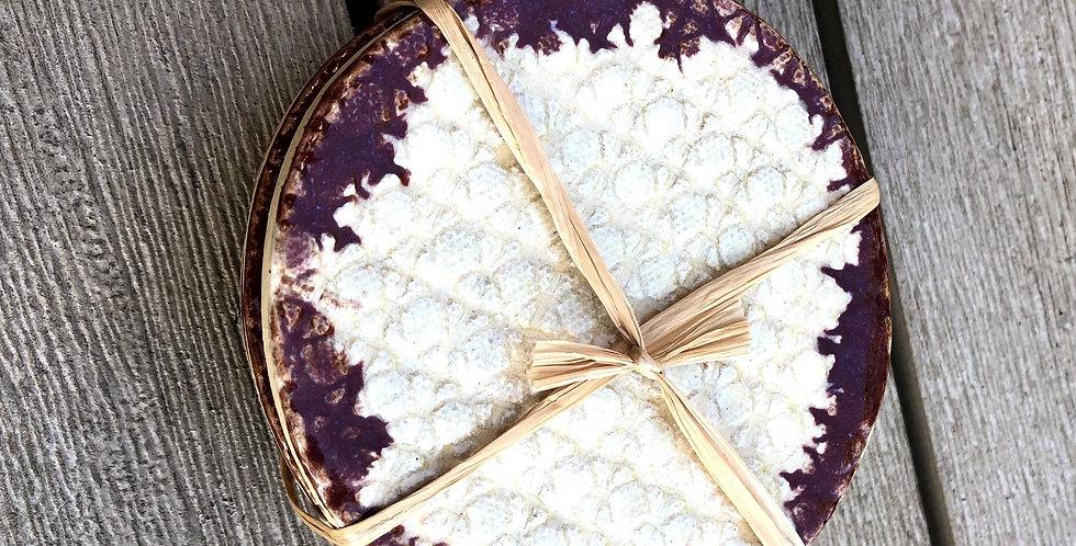 Cream and Brick Textured Coasters