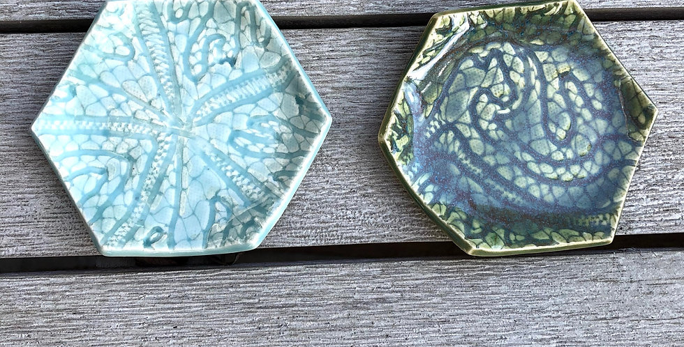 Hexagon Tea Bag Holder/Spoon Rest