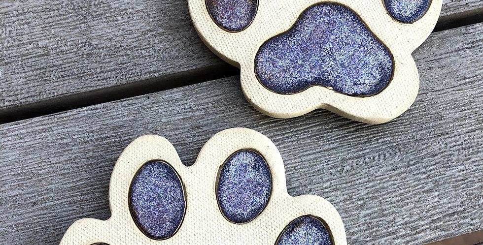 Bronze Paw Print Coasters