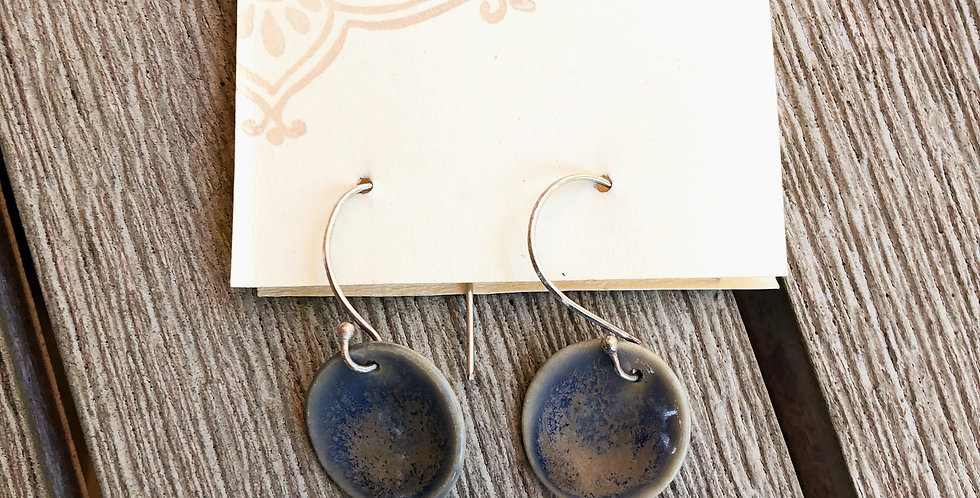 Blue Charcoal Earrings