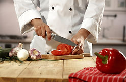 Chef Chopping Vegetables