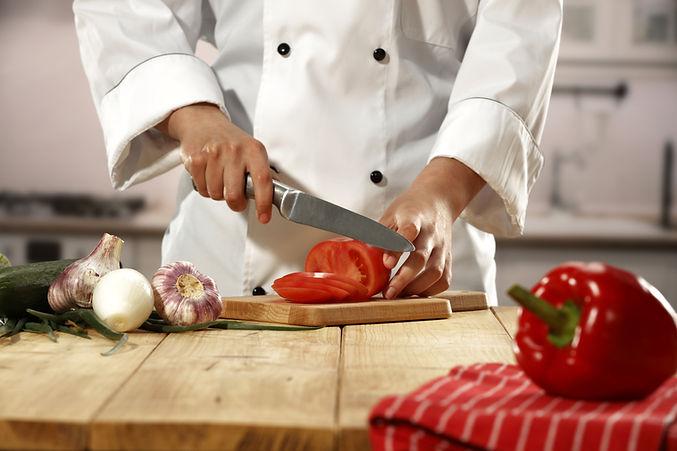 Chef, couper les légumes