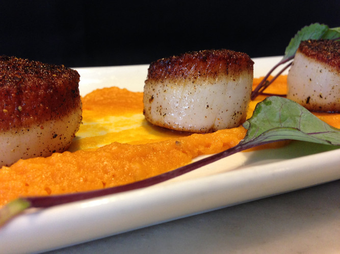 Blackened Scallops