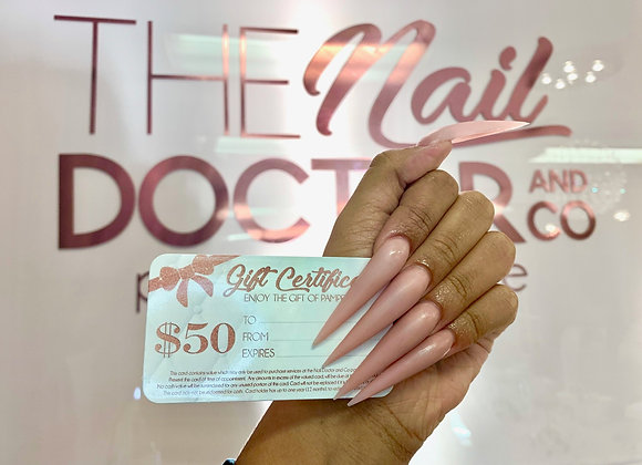 The Nail Doctor Gift Certificate
