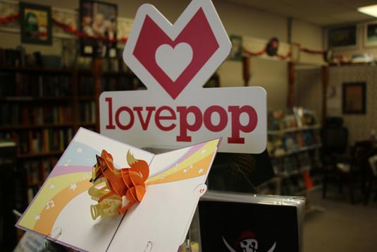 Love Pop Cards Local Bookstore Virden IL