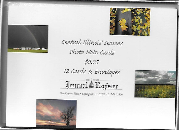 Central Illinois Seasons Photo Note Cards