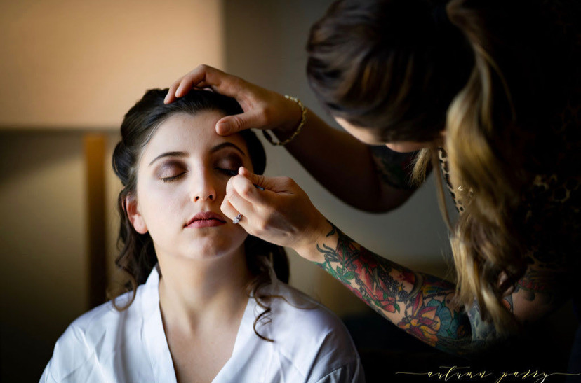 Traditional makeup application