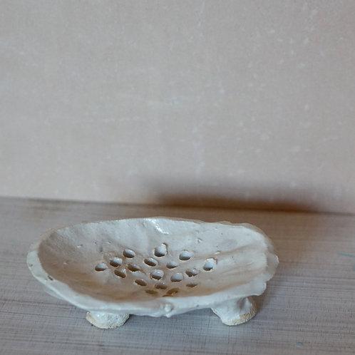 White Stoneware Soapdish