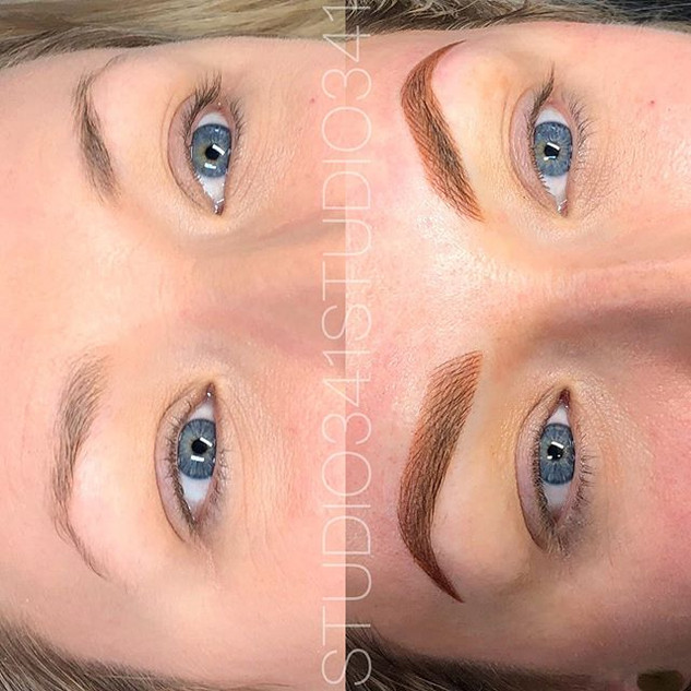 Beautiful combo brows today for this cut