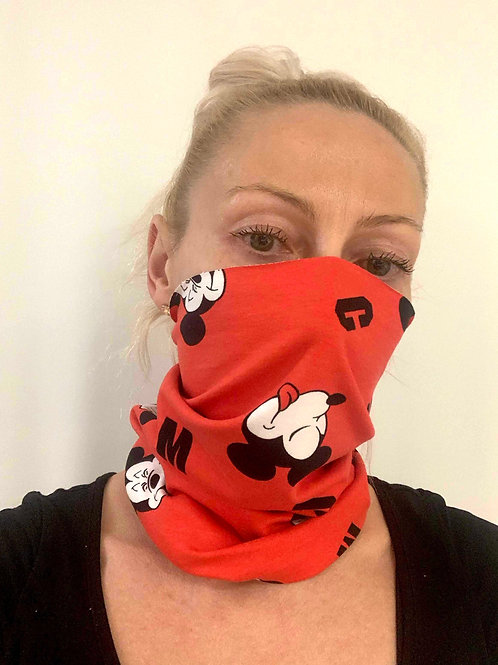 RED MICKEY_multi mask_95% bavlna + 5% elastan