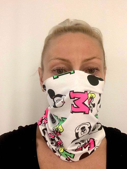 WHITE MICKEY_multi mask_95% bavlna + 5% elastan