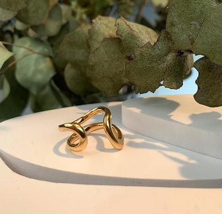 TITANIUM BALLOONS SMALL RING GOLD