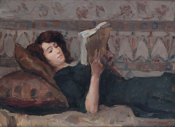 Reading_woman_on_a_couch,_by_Isaac_Israe