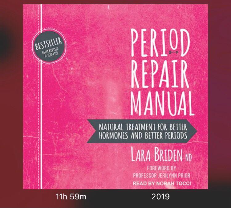 Screen shot of the book cover Period Repair Manual by Lara Briden ND