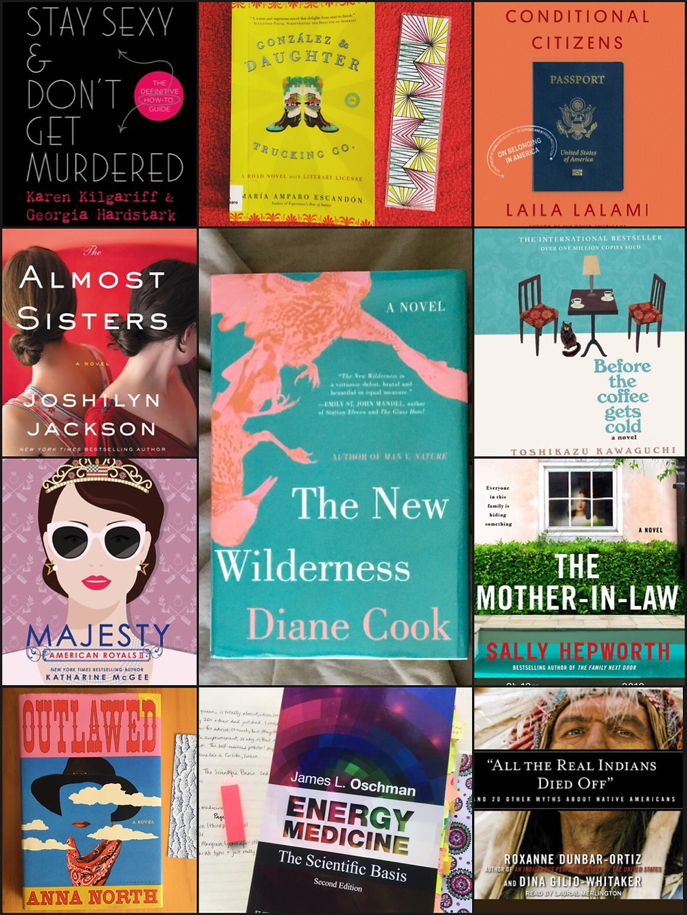 A photo collage of the eleven books I read in March 2021