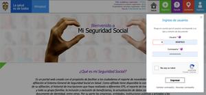 Ingreso al portal www.miseguridadsocia.gov.co