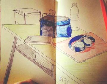 My desk #sketchbook #aelita15original #r
