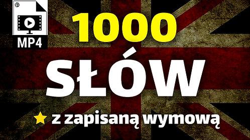 1000 Najczęściej używanych słów po angielsku MP4
