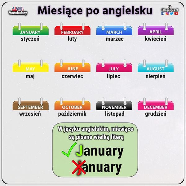 miesiące po angielsku