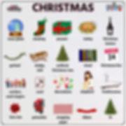 Learn English christmas worksheet chart
