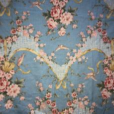 4F. Blue Baroque Floral