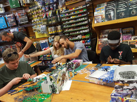 Example of a Gunpla Meetup: Hangar 18 in Cary, NC