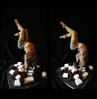 gymnist cake