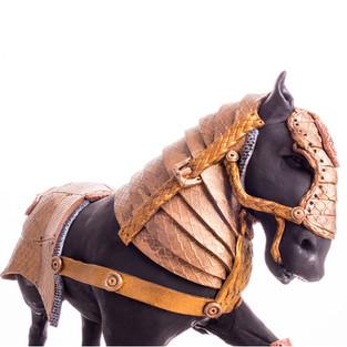 armoured horse cake