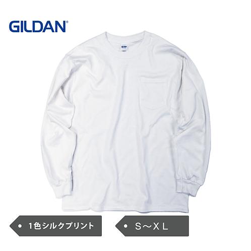 GILDAN 6oz ウルトラコットン 長袖ポケットT GILD-T2410