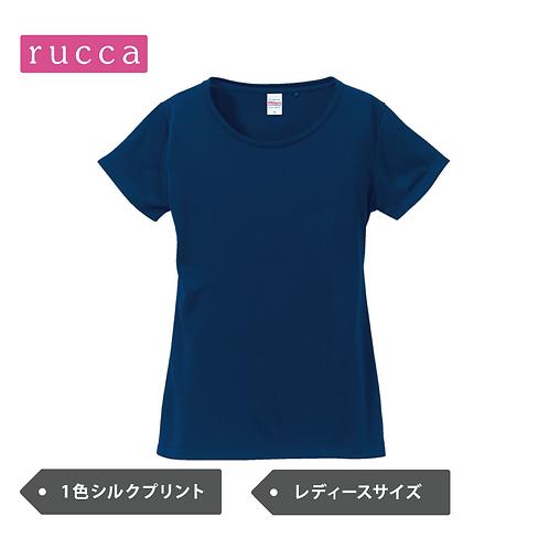 【レディース】rucca 5088-04 4.7オンス ドライ シルキータッチ Xライン Tシャツ(ローブリード)