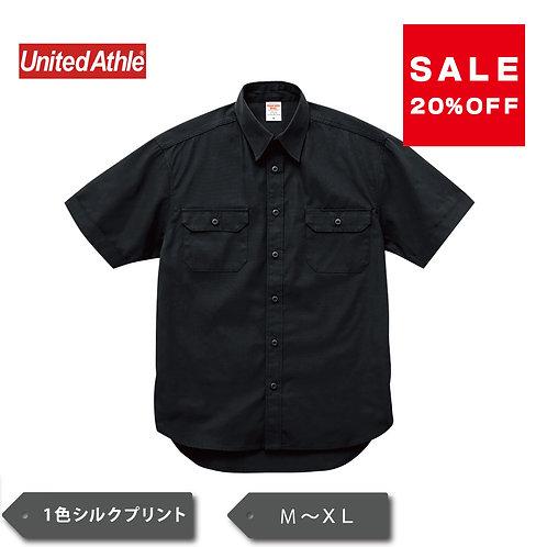 UnitedAthle T/C ワーク シャツ  ブラックのみSALE 1772-01