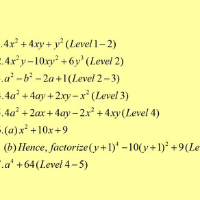 <<校內Exam 系列>> - Factorization (中二、三適用)