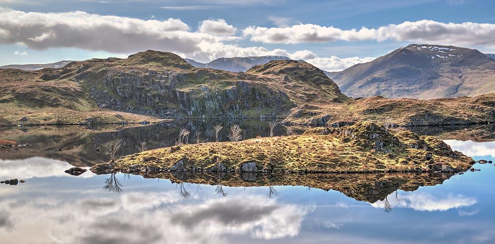 Angle Tarn Reflections (Panoramic versio