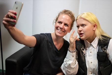 Selfie beim Interview mit Alma