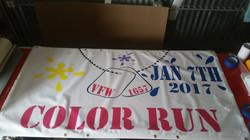 color run banner