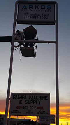 installation of sign