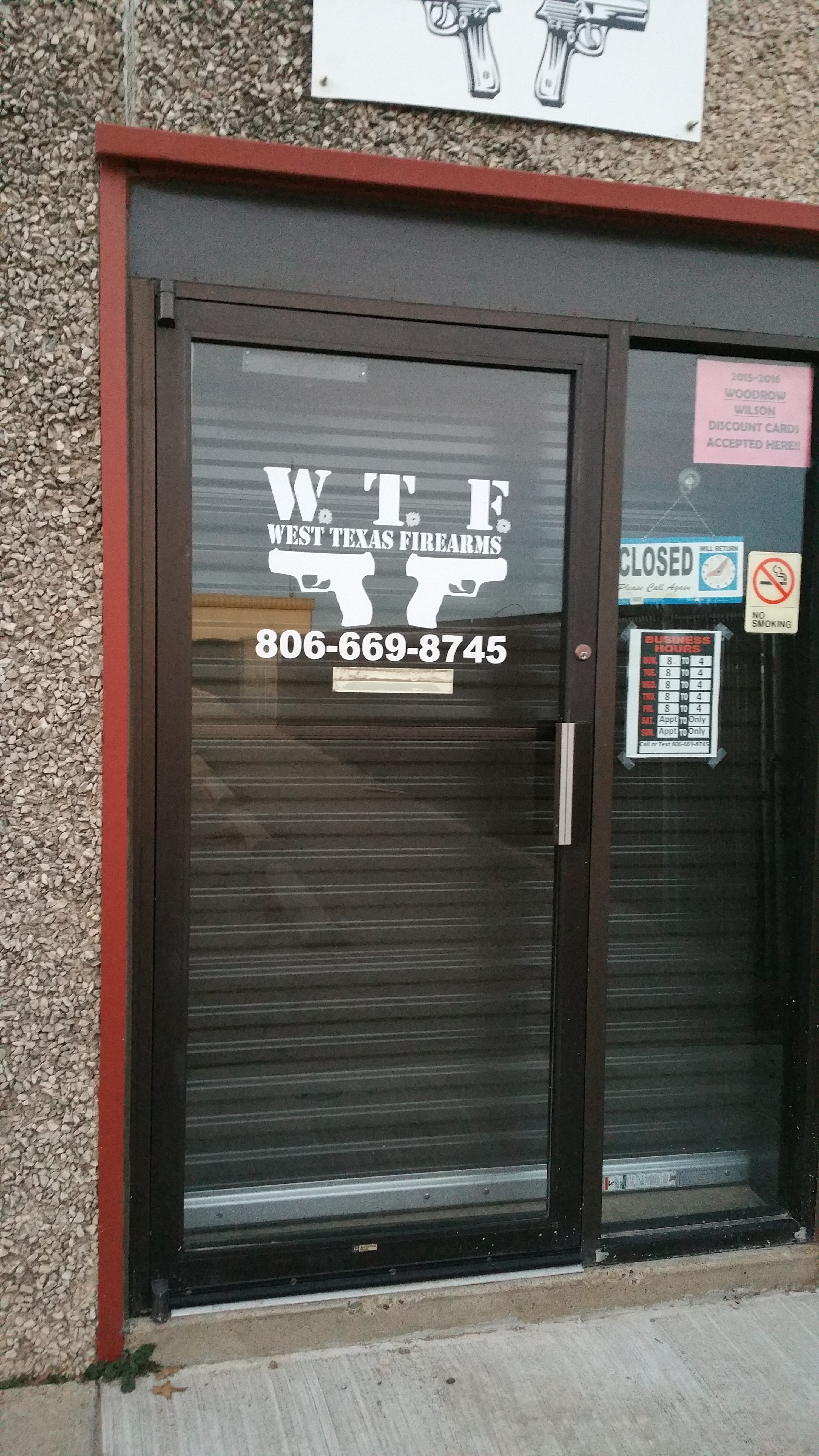 west texas firearms door