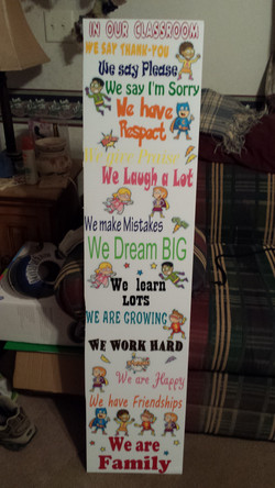 door poster for kinder