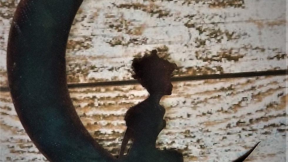Girl on a moon
