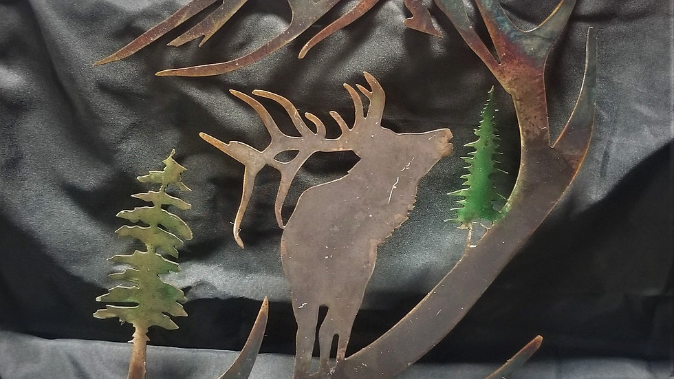 Elk and trees