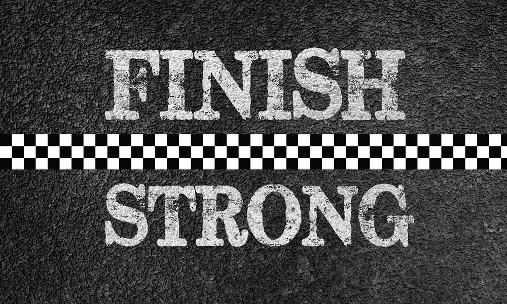 #finishstrong