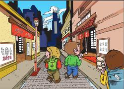 Illustration 3 -Le dojo à Tokyo-